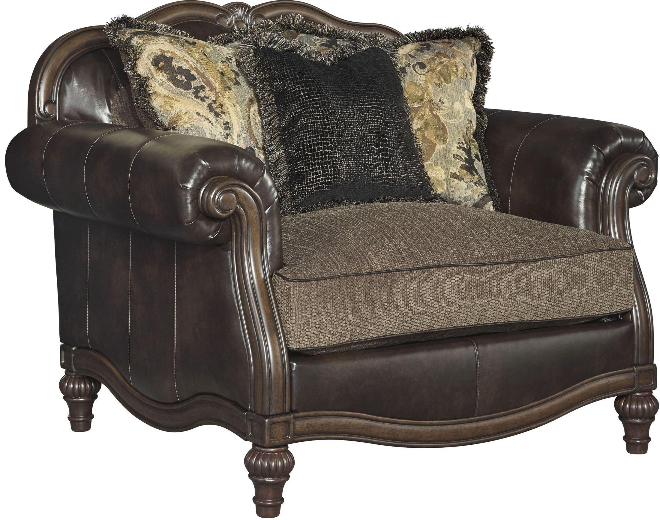 one and a half chair round comfy winnsboro durablend vintage 5560223 ashley