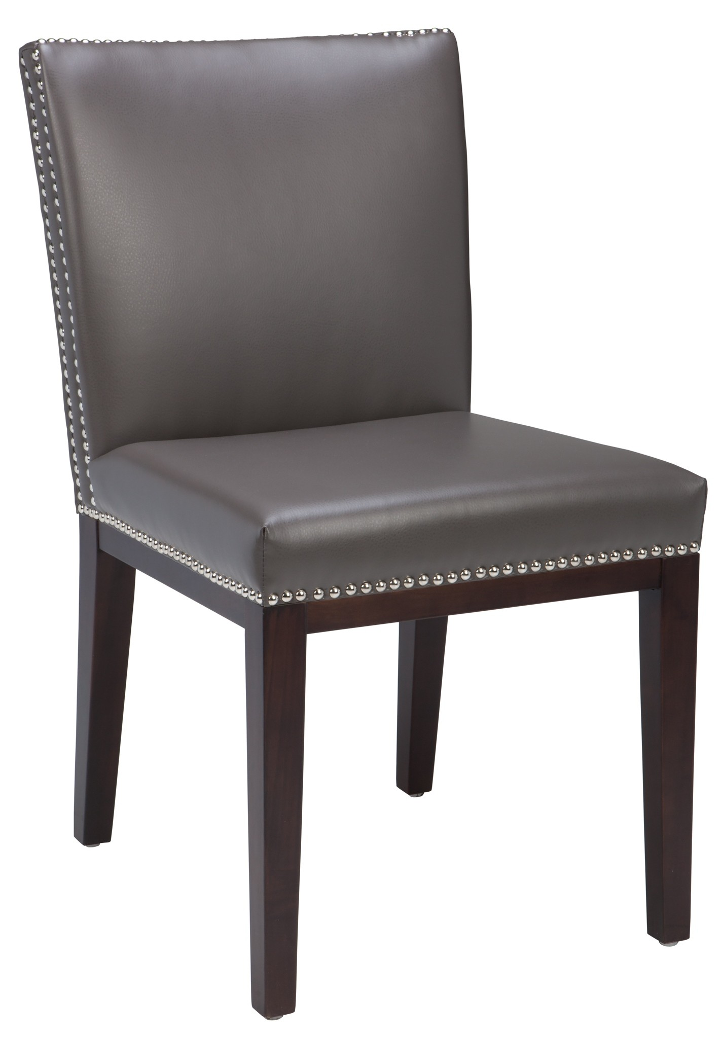 gray leather dining chairs cool for man cave vintage grey chair set of 2 from sunpan