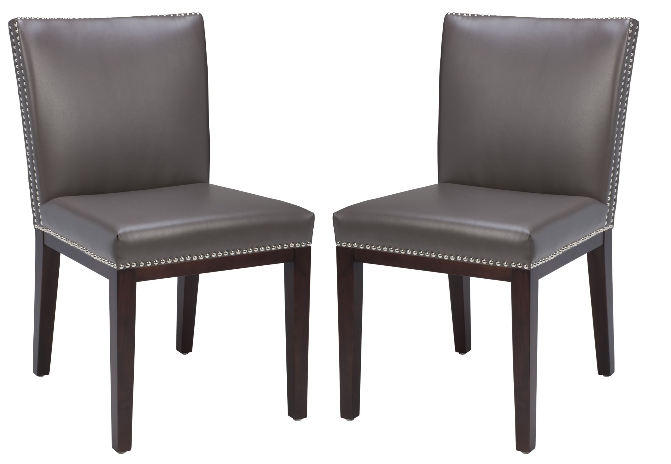 Dining Chairs Set Vintage Leather Grey Dining Chair Set Of 2 From Sunpan