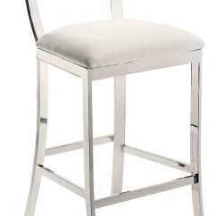 White Leather Bar Chair Living Room Sets Maiden Counter Stool From Sunpan 56336 Coleman