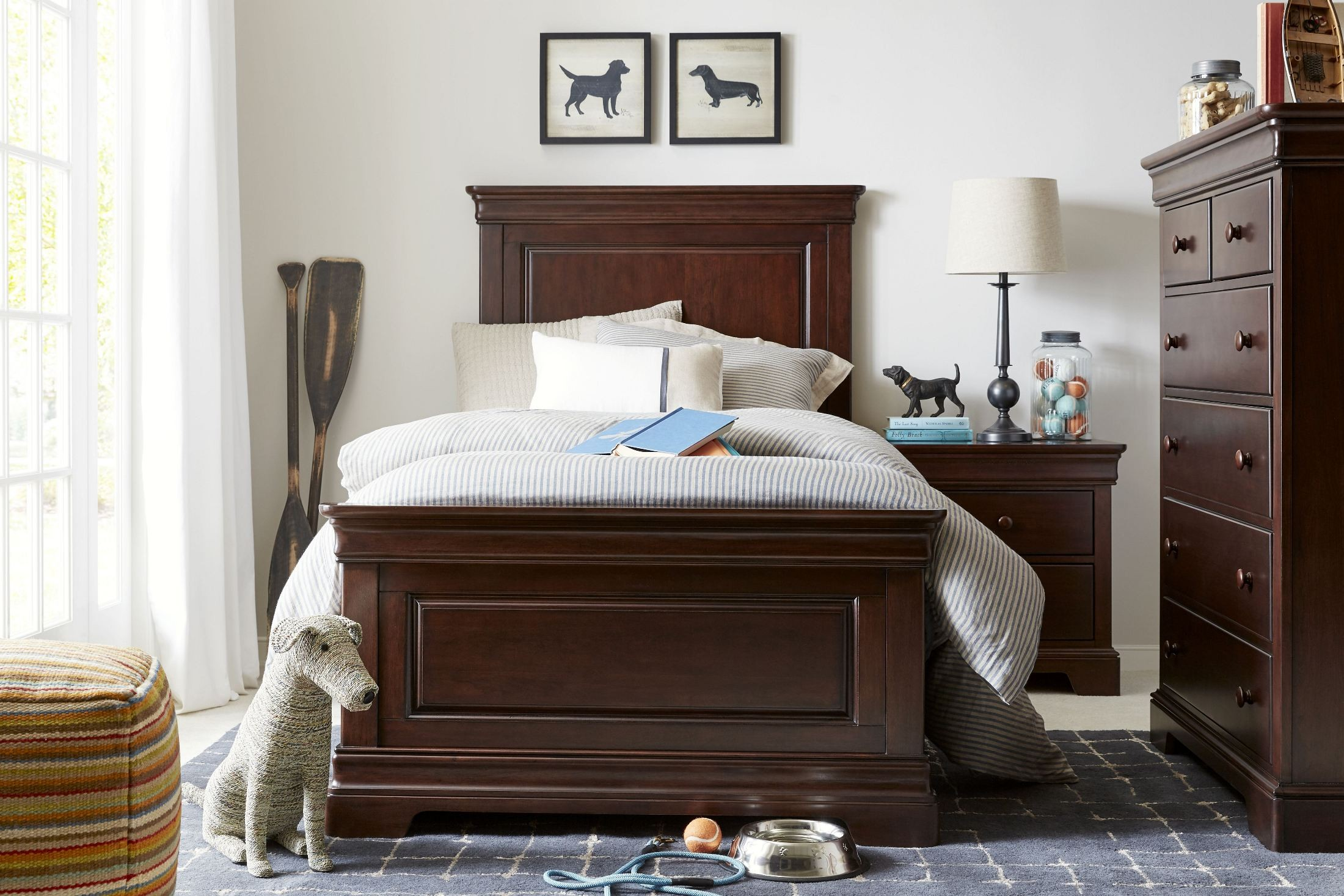 Teaberry Lane Midnight Cherry Youth Panel Bedroom Set from