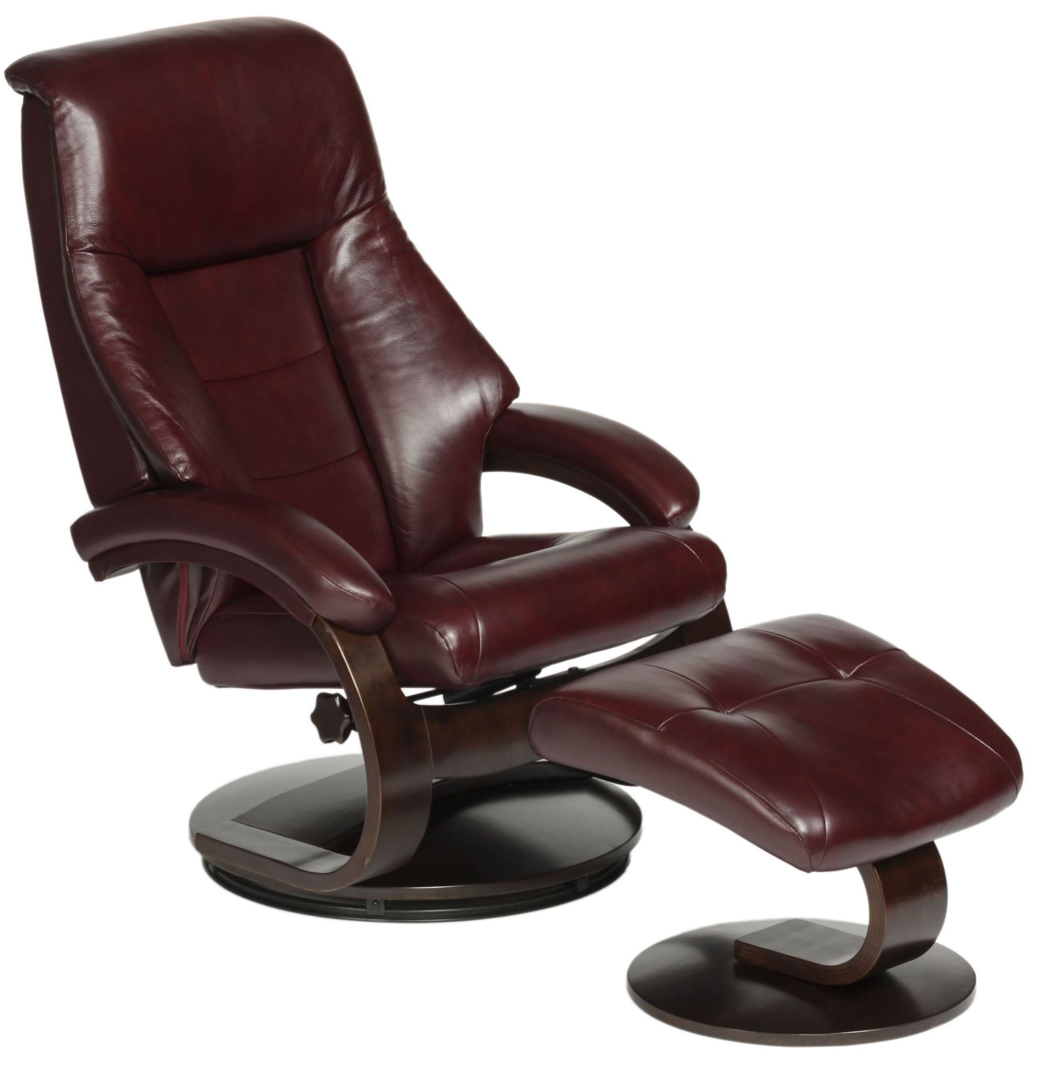 Best Leather Chairs Oslo Merlot Burgundy Top Grain Leather Swivel Recliner