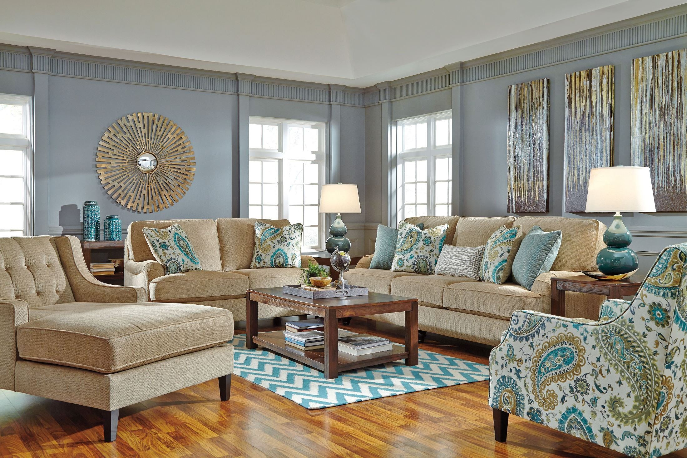 Lochian Bisque Living Room Set From Ashley (5810038