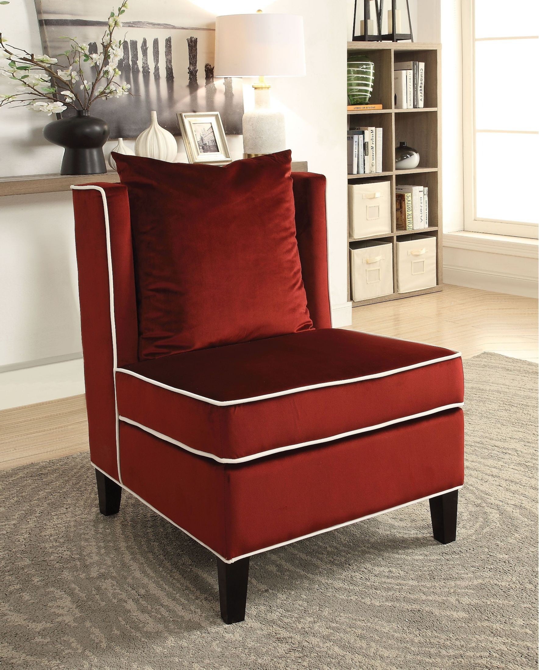 red velvet office chair black leather swivel lounge ozella accent from acme coleman furniture