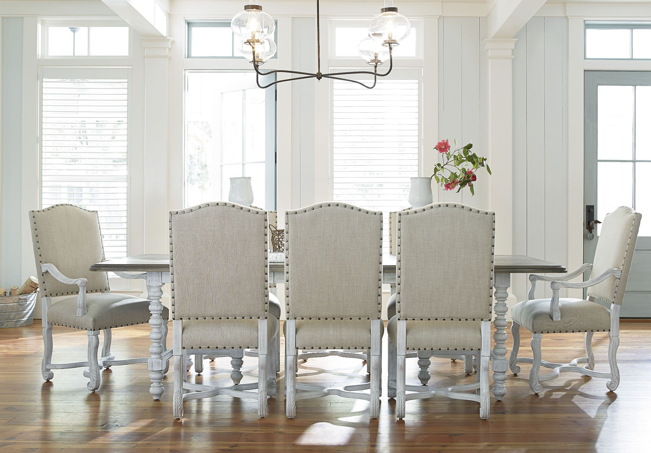 paula deen dogwood dining chairs chair covers for celebrations essex blossom room set from (597a655) | coleman furniture
