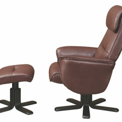 Glider Recliner Chair With Ottoman Teen Room Chairs Brown 600057 Coaster Furniture