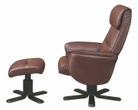Brown Glider Recliner With Ottoman, 600057, Coaster Furniture