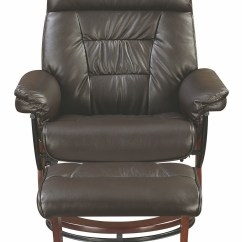 Glider Recliner Chair With Ottoman Crate And Barrel Dining Cushions Chocolate 600084 Coaster