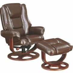 Glider Recliner Chair With Ottoman Pottery Barn Slipcover Reviews Brown 600086 Coaster Furniture