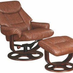 Glider Recliner Chair With Ottoman Big Joe Cuddle Brown 600087 Coaster Furniture