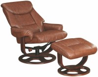 Brown Glider Recliner With Ottoman, 600087, Coaster Furniture