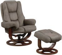 Two Tone Gray Reclining Chair With Ottoman from Coaster ...