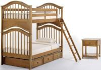 School House Pecan Jordan Youth Bunk Bedroom Set With ...