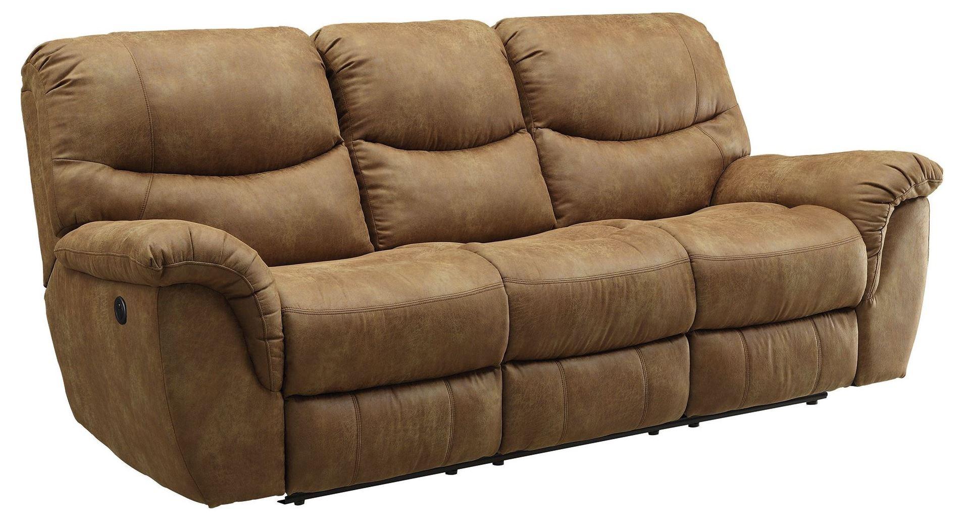 Hancox Light Brown Power Reclining Sofa from Coaster