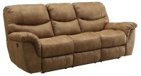 Hancox Light Brown Power Reclining Sofa from Coaster