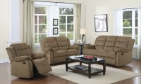 Rodman Tan Reclining Living Room Set from Coaster (601884 ...