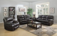 Willemse Dark Brown Reclining Living Room Set from Coaster ...