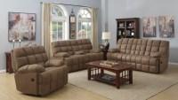 Pickett Mocha Reclining Living Room Set from Coaster ...