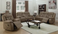 Houston Tan Motion Living Room Set from Coaster | Coleman ...