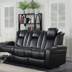 Alessandro Leather Power Motion Sofa Reviews Modern Bed Chicago Delangelo Black From Coaster Coleman Reclining