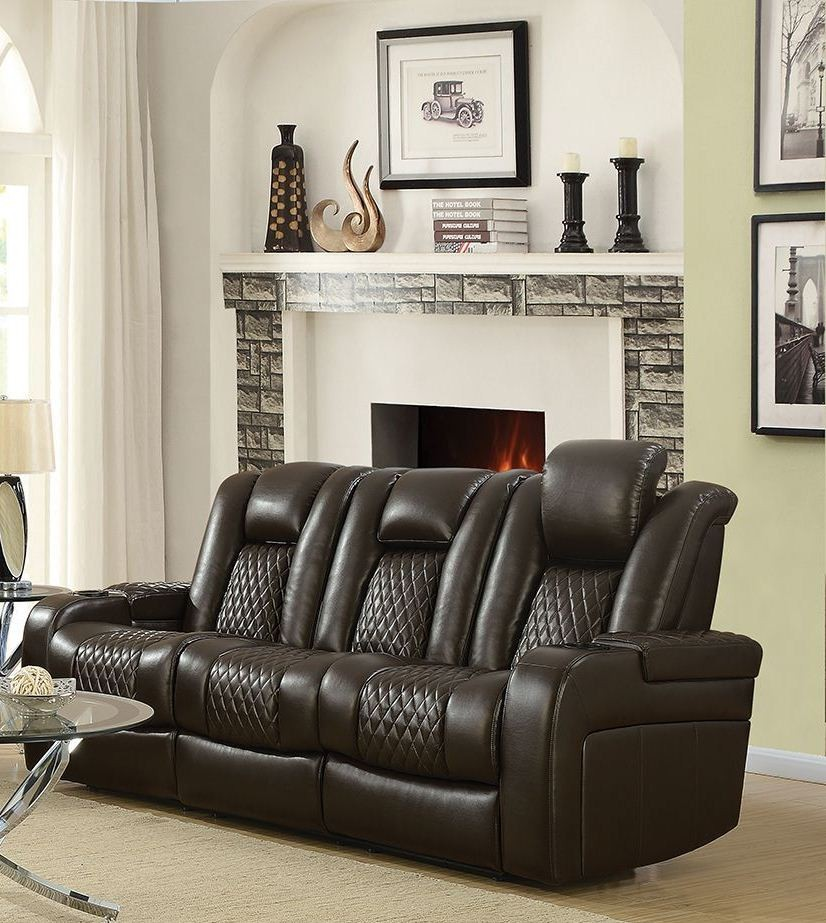 alessandro leather power motion sofa reviews sofas beds with storage delangelo brown from coaster coleman reclining 2396308