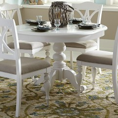 White Round Kitchen Table And Chairs Mdf Cabinet Doors Summer House Oyster Antique Pedestal