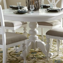 White Round Dining Room Table And Chairs Leather Tub Chair Summer House Oyster Pedestal