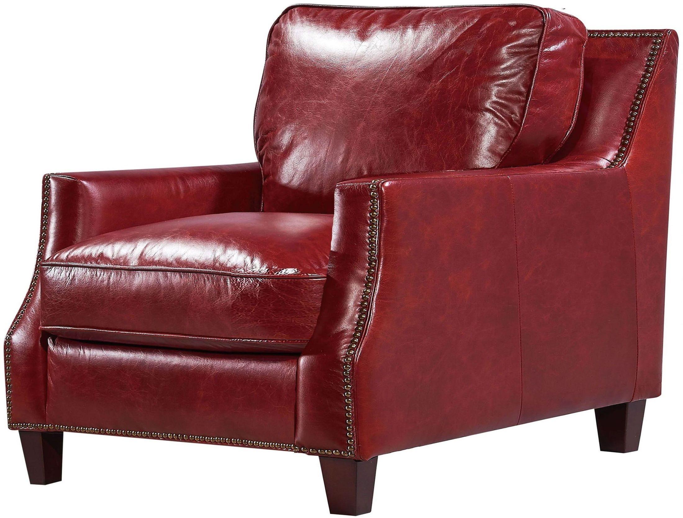 Georgetowne Oakridge Red Leather Chair 16696103015510