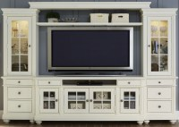 """Harbor View Linen Entertainment Wall Unit with 62"""" TV ..."""