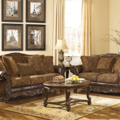 Living Room Ideas With Dark Leather Couches Furniture Small Fresco Durablend Antique Set From Ashley ...