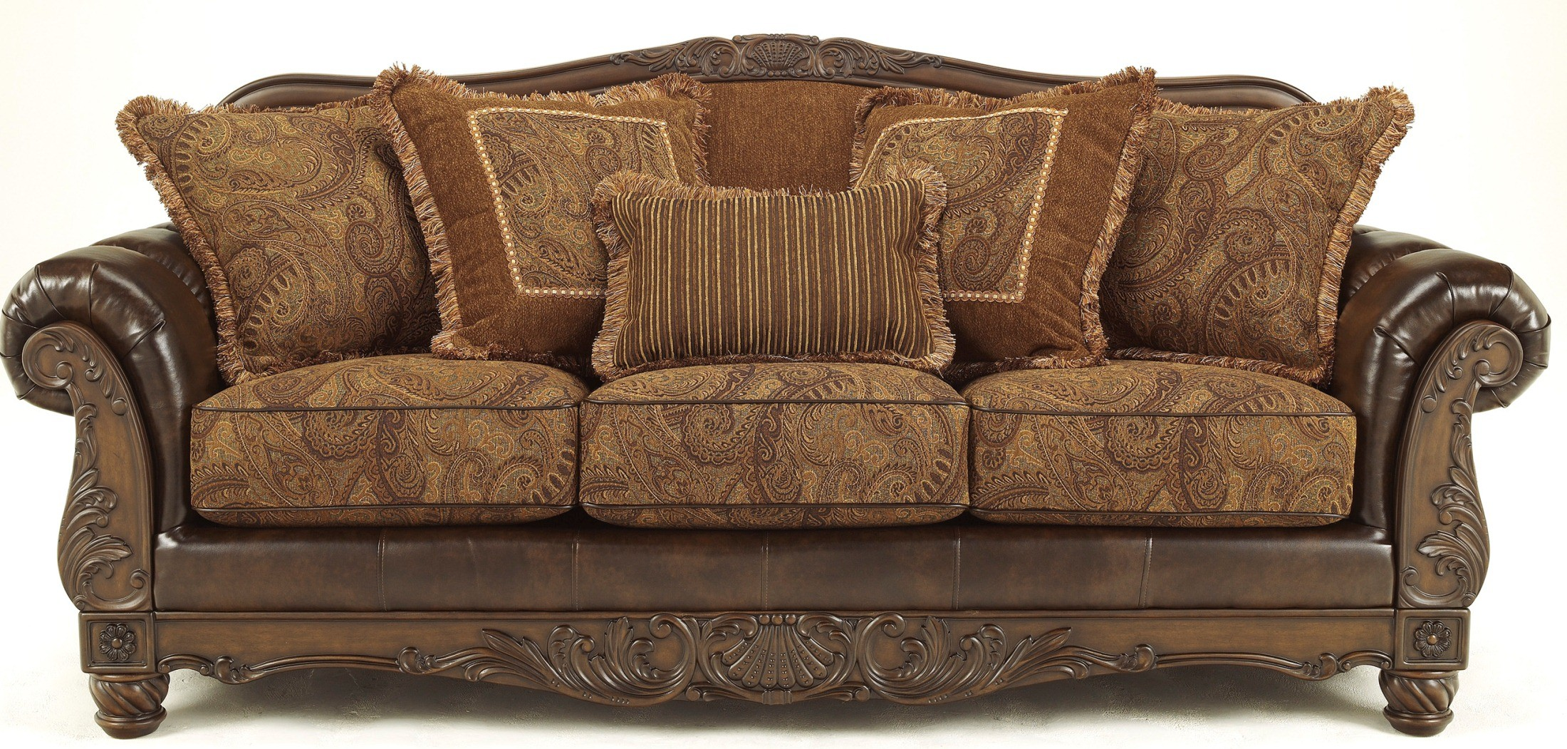 durable sofa brands modern corner fresco durablend antique from ashley 6310038