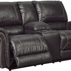Black Reclining Sofa With Console Nina Expandable Table Milhaven Double Power Loveseat
