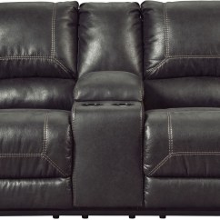 Cobra Dual Reclining Sofa Reviews Lay Z Boy Sectional Milhaven Black Double Power Console Loveseat
