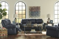 Milhaven Navy Reclining Living Room Set, 6330488, Ashley