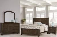 Rustic Cottage Dark Rustic Oak Sleigh Bedroom Set from ...