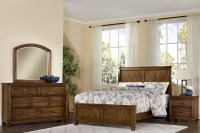 Rustic Cottage Rustic Cherry Sleigh Bedroom Set from ...