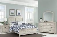 Rustic Cottage Rustic White Sleigh Storage Bedroom Set ...