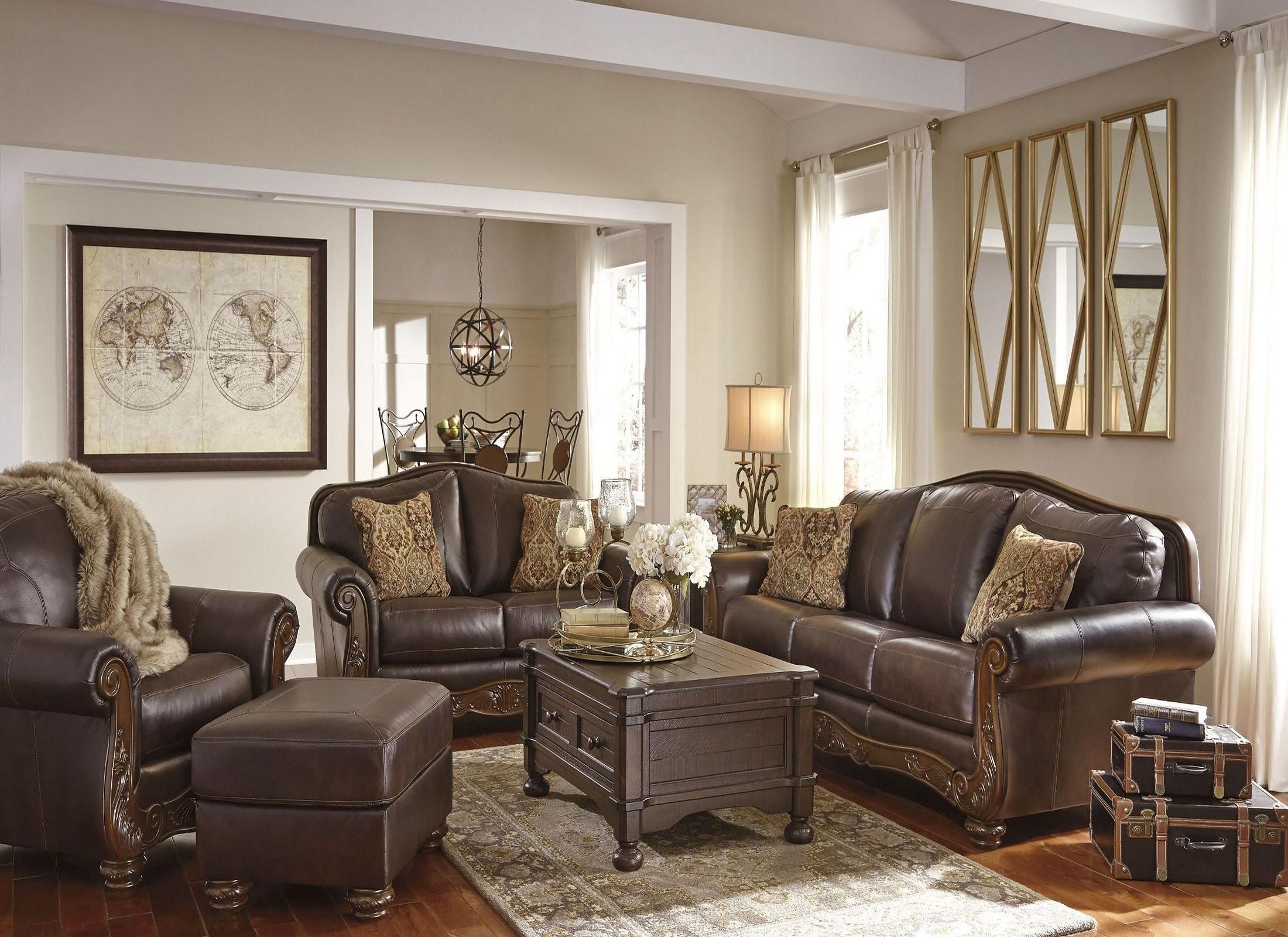 Mellwood Walnut Living Room Set from Ashley  Coleman