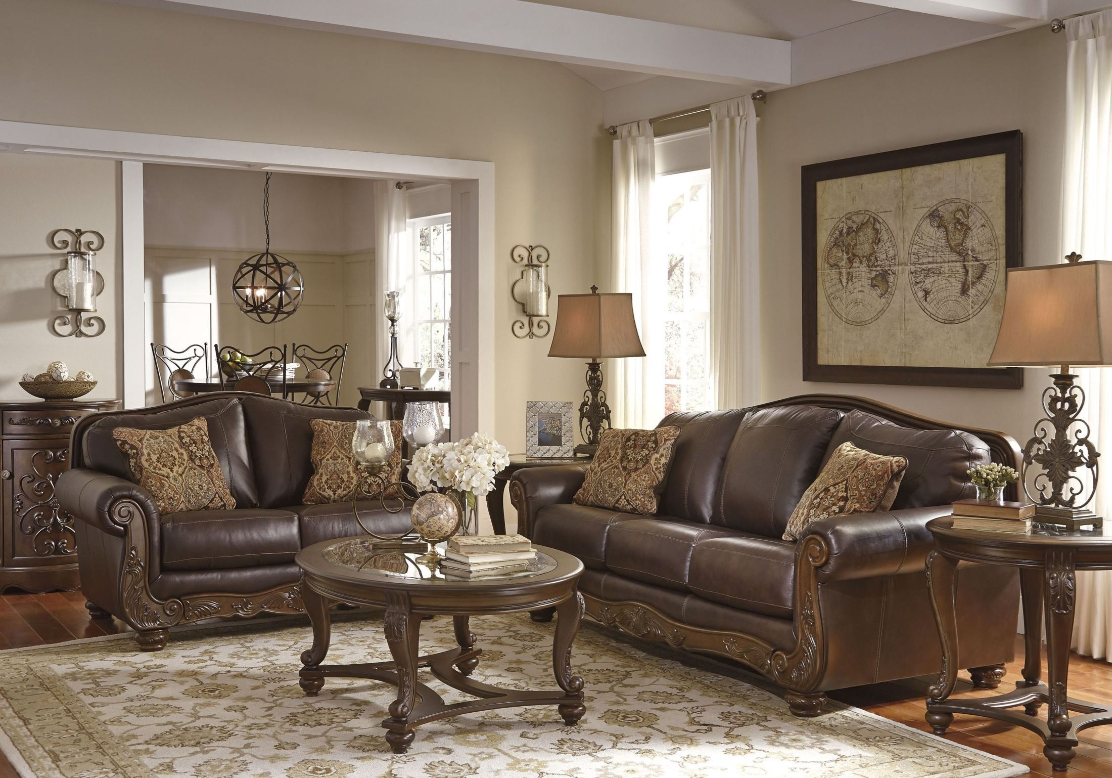 Mellwood Walnut Living Room Set 6460538 Ashley