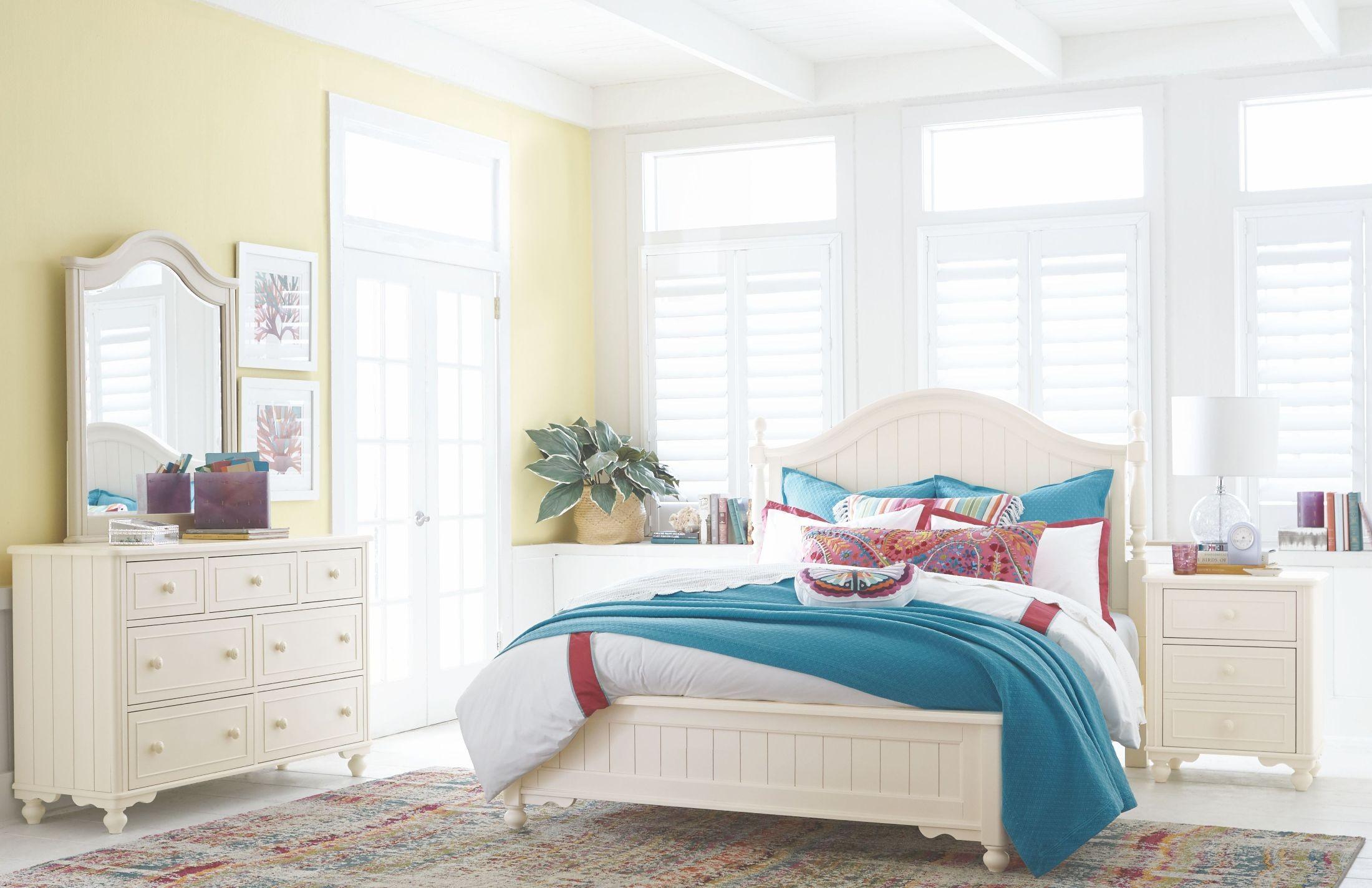 Summerset Ivory Low Poster Bedroom Set 64814205K Legacy
