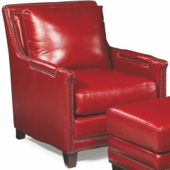 Red Leather Chair And Ottoman Silver Velvet Dining Chairs Prescott Supple From Spectra Home Coleman Furniture 1702989
