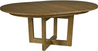 "Traverse Brown 54"" Drop Leaf Round Dining Table, 660-701 ..."