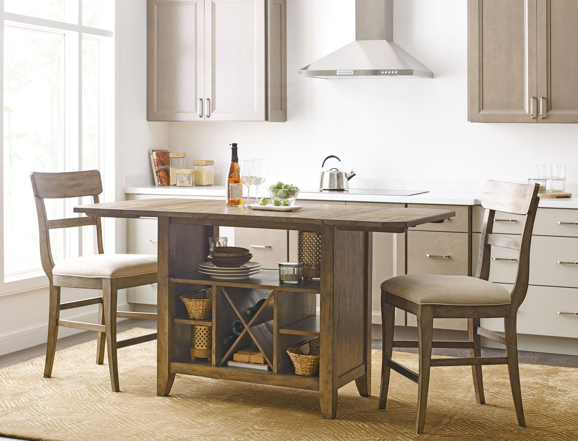 The Nook Oak Kitchen Island Set from Kincaid Furniture