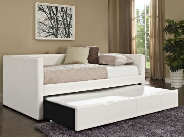 Lindsey White Twin Trundle Daybed Standard Furniture
