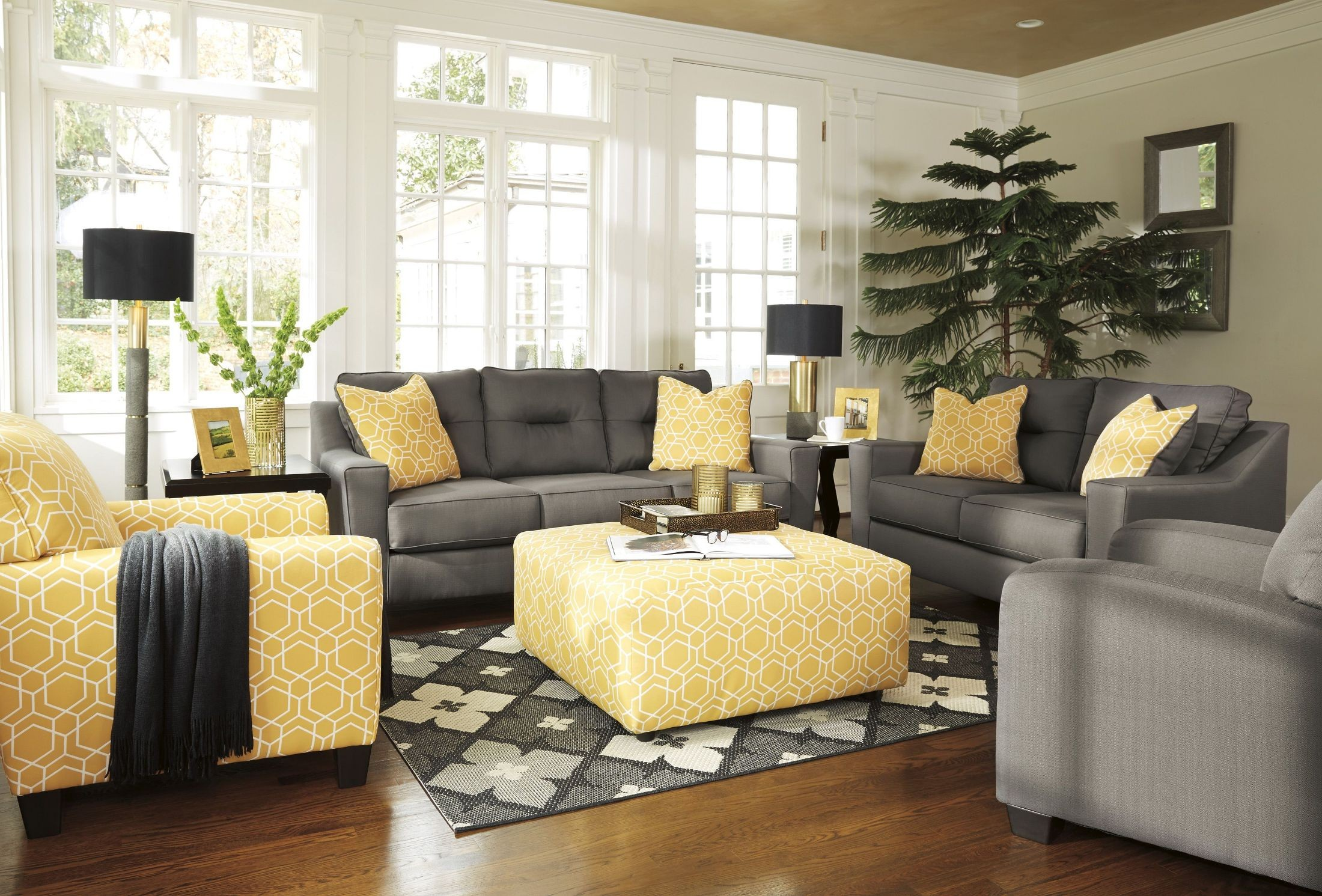 sleeper sofa no arms herman miller goetz review forsan nuvella gray living room set from ashley | coleman ...