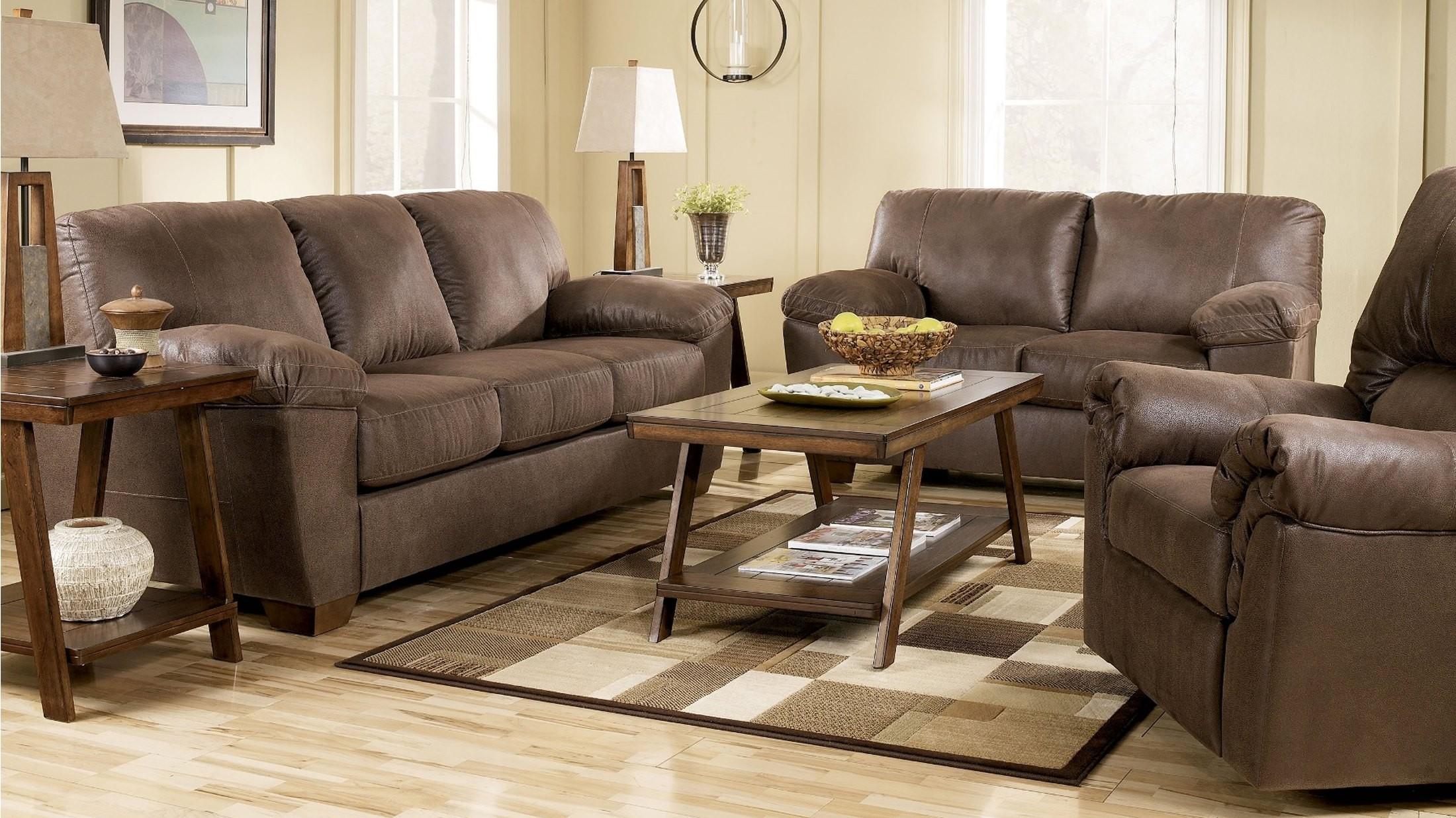 Amazon Walnut Living Room Set from Ashley 67505