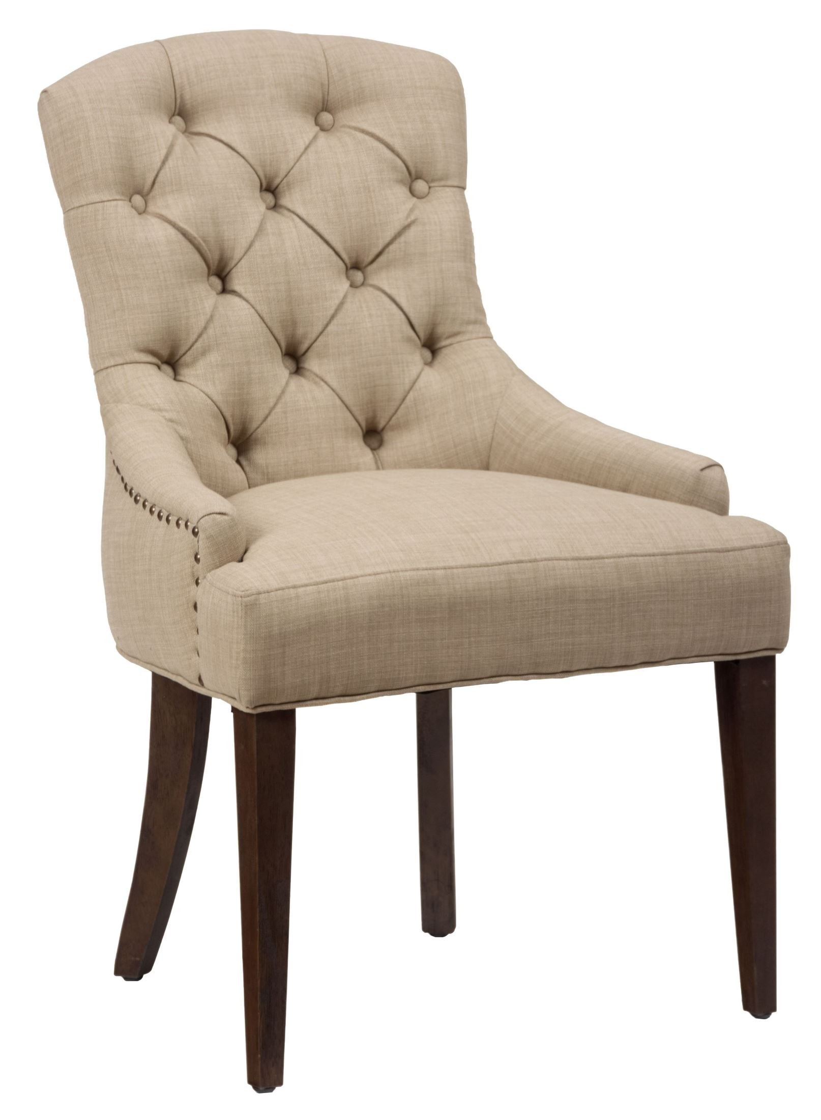 tufted side chair design theory geneva hills rustic brown set of 2 from