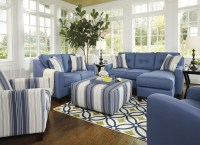 Aldie Nuvella Blue Living Room Set from Ashley | Coleman ...