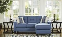Aldie Nuvella Blue Queen Sofa Chaise Sleeper, 6870368, Ashley
