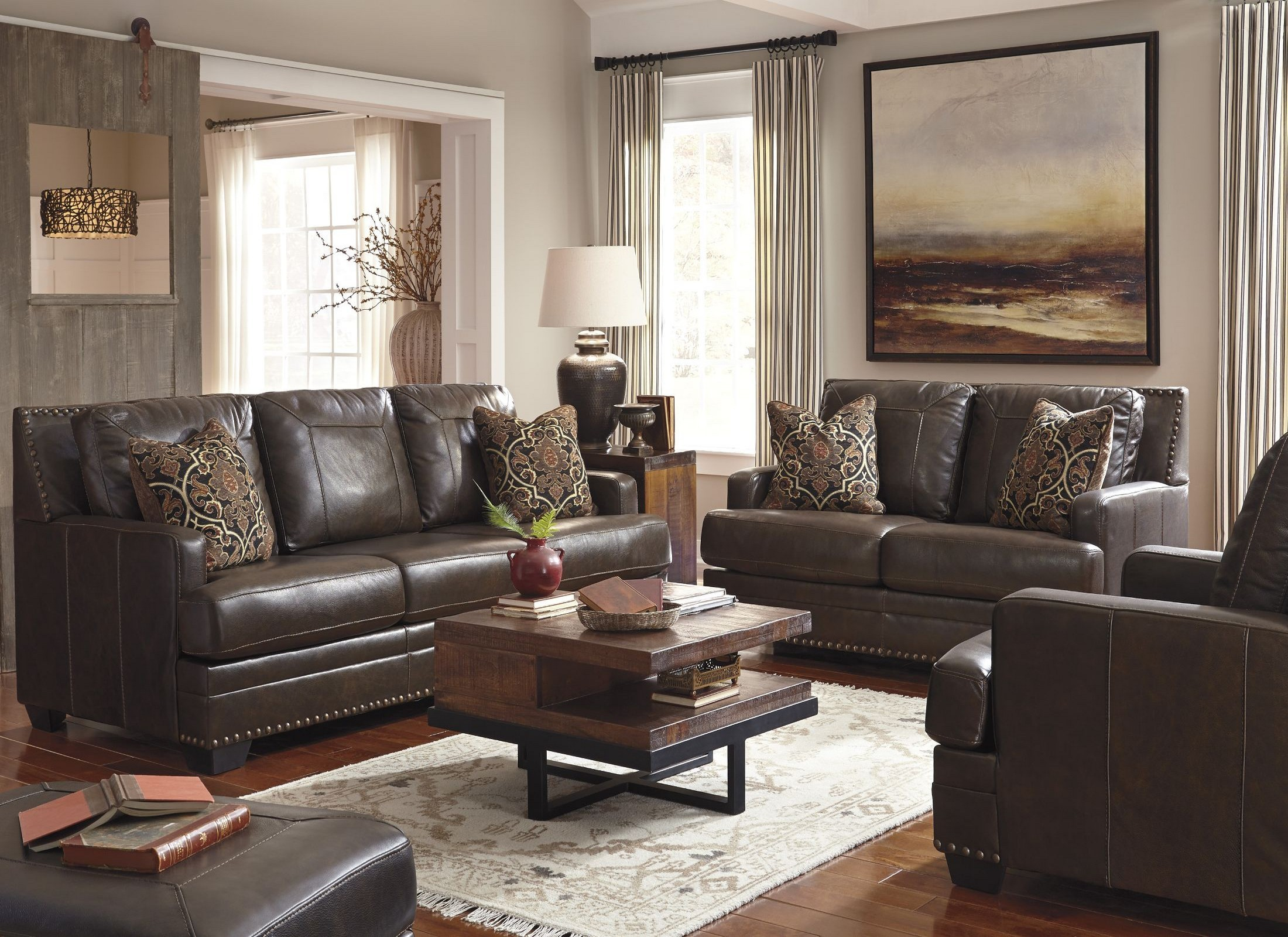 Corvan Antique Living Room Set from Ashley (6910338
